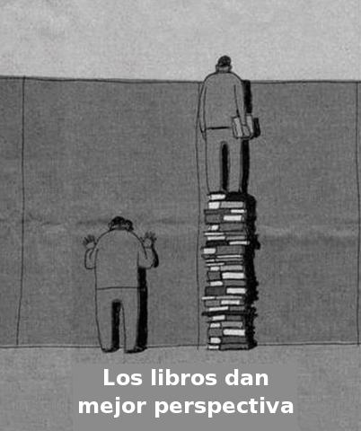 Los libros dan mejor perspectiva