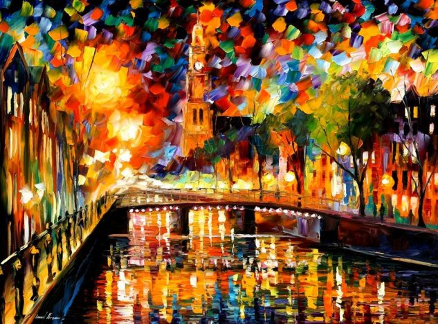 Afremov Leonid LIGHTS and SHADOWS of AMSTERDAM