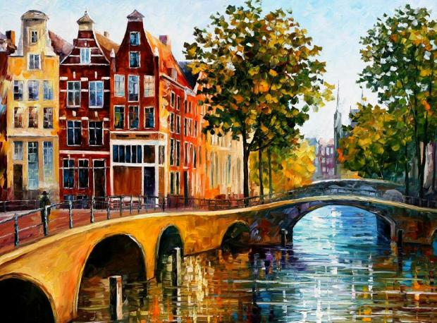 Afremov The Gateway to Amsterdam