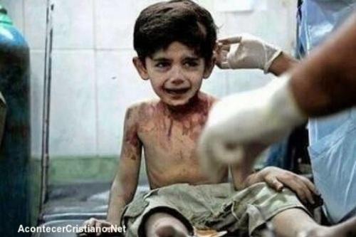 """Niño sirio: """"Cuando muera le contaré todo a Dios"""""""